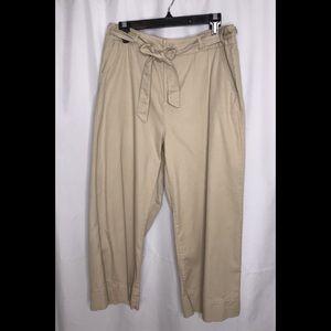 Vanilla Star Wide Leg Belted Khaki Pants Large
